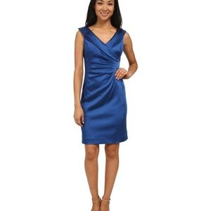 Blue Satin fitted dress